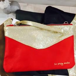 Rose De Coton pochette rouge et or la p'tite étoile paris