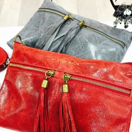 Rose De Coton pochettes rouge et grise