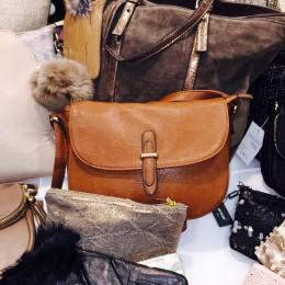 Rose De Coton sac à main marron