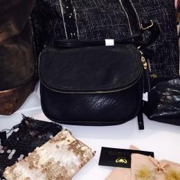 Rose De Coton sac à main noir
