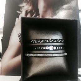 Rose De Coton swarovski bracelet strass